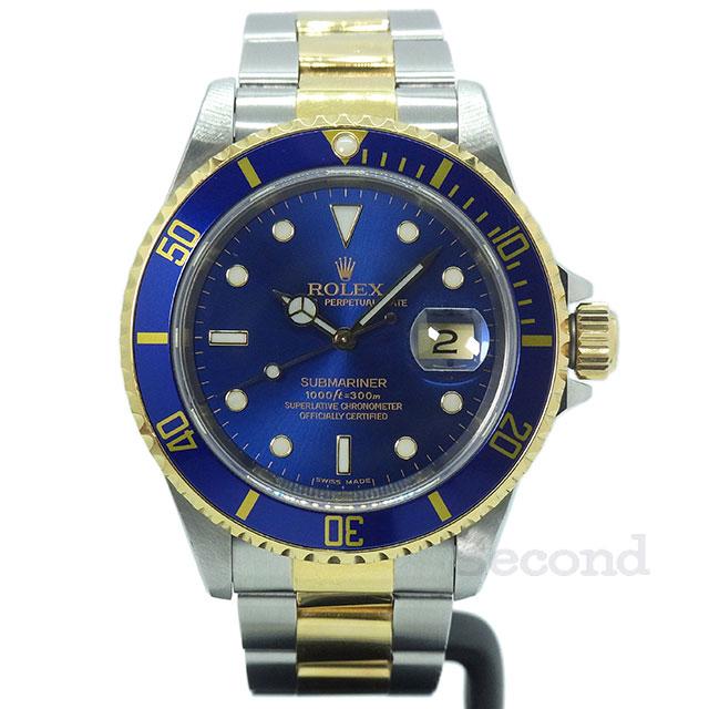 online store ca66e e0da0 ロレックス サブマリーナ デイト 16613 青サブ (USED)|セコンド ...